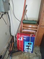 Office Chair (still in box), Folding Chairs & Lawn Tools
