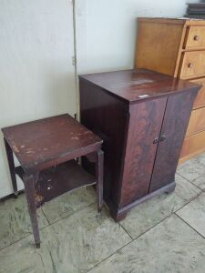 4-Drawer Cabinet & Small Table