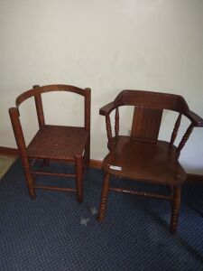 (2) Wood Chairs
