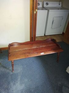 Vintage Wood Coffee Table & End Table