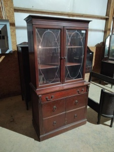 "CHINA CABINET, approximately 35""x17""x69"""