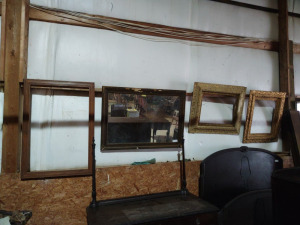 "FRAMED WALL MIRROR WITH FRAMES, approx. 41"" x 29"""