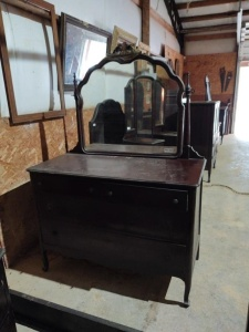 "DRESSER WITH MIRROR, approx. 48"" x 23"" x 35"" , mirror approx. 35"" x 34"""