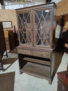 "CHINA CABINET (MISSING SHELVES), approx. 37""x17""x69"""