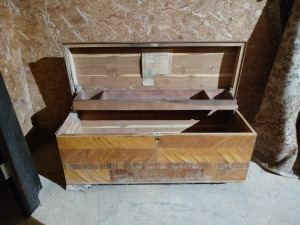 "CEDAR CHEST BY JACOB BLOOM, approx. 47""x 18""x20"""