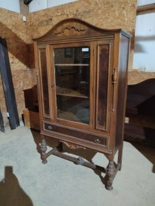 "CHINA CABINET, approx. 39""x18""x71"""
