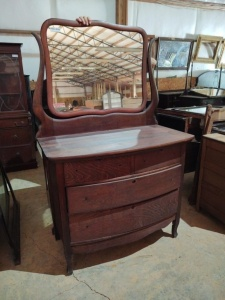 "DRESSER WITH MIRROR, approx. 41"" x 22"" x 35"", mirror approx. 32"" x 27"""