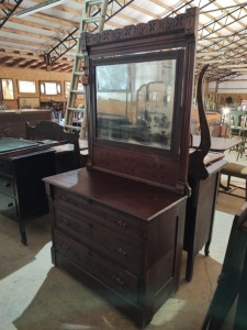 "DRESSER WITH MIRROR, approx. 39"" x 19"" x 31"", mirror approx. 42"" x 36"""