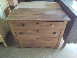 "SMALL CHEST OF DRAWERS, approximately 38"" x 18"" x 31"""