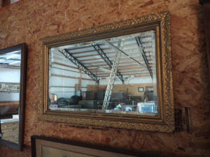 "HORIZONTAL FRAMED MIRROR, approx. 36"" x 23"""
