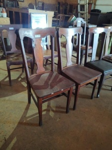(2) WOODEN DINING ROOM CHAIRS