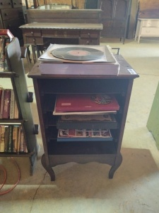 "SHELF CABINET (approx. 19"" x 14"" x 31"" ) & OLD RECORDS"
