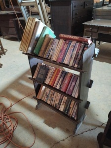 "BOOKCASE WITH BOOKS, approx. 34"" x 11"" x 35"""