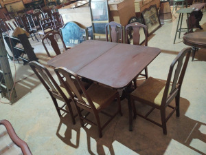 TABLE & (6) CHAIRS; 54x36x30