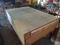 WOODEN TABLE; 72x48x37 - 4