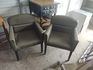 (2) Matching Waiting Room Arm Chairs