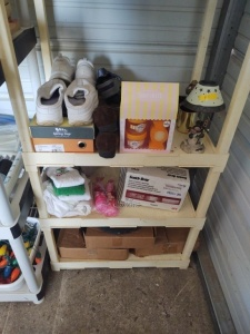Lot of Miscellaneous: Shoes, Scrubbing Pads, Belts & More