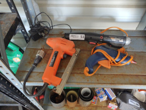 Cordless Electric Screwdriver, Hot Glue Gun & Electric Staple Gun