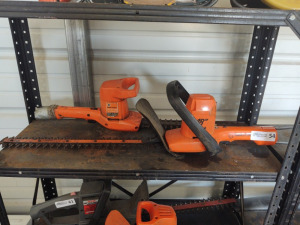 (2) Black & Decker Electric Hedge Trimmers