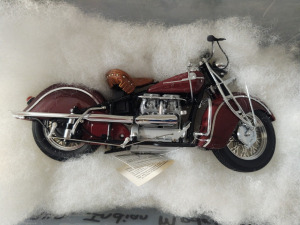 "HARLEY-DAVIDSON DIE-CAST REPLICA, ""1942 INDIAN MODEL 442"" BY THE FRANKLIN MINT"