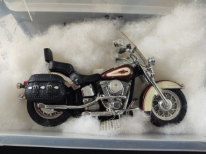 "HARLEY-DAVIDSON DIE-CAST REPLICA, ""HERITAGE SOFTAIL"" BY THE FRANKLIN MINT"