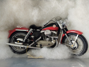 "HARLEY-DAVIDSON DIE-CAST REPLICA, ""1957  XL RECREATIONALTER"" BY THE FRANKLIN MINT"