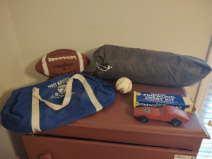TENT, FOOTBALL, BASEBALL, BAT & MORE