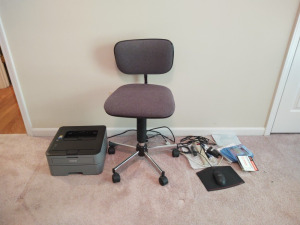 DESK CHAIR, PRINTER & MORE