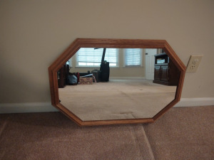 "FRAMED OCTAGON MIRROR (31"" X 22"")"