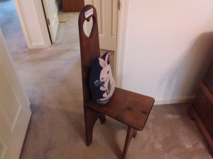 Heart Carved High Back Chair
