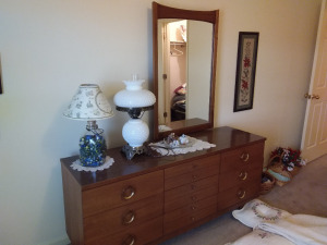 Vintage Bedroom Suite (contents on dresser are not included)