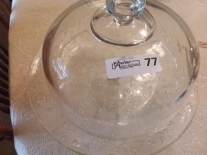 Glass Domed Cake Plate