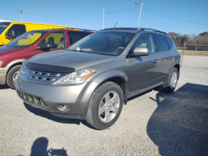 2004 NISSAN MURANO; VIN# JN8AZ08TX4W218222; 245,728 MILES; ONE-OWNER VEHICLE