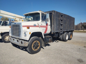 1984 Ford 8000 Diesel Dual Axle Dump Truck, 18' Flatbed; 162,510 Miles