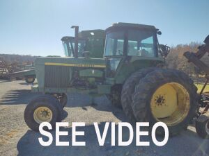 JOHN DEERE 4630 DUAL WHEEL TRACTOR SHOWING 779.6 HRS S#4630P 001145R