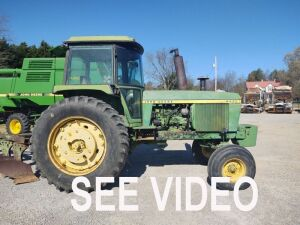 4430 JOHN DEERE TRACTOR S#4430H 034143R, SHOWING 8137HRS