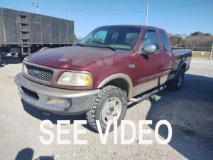 1997 FORD F-150, 4X4 VIN# 1FTDX18WXVKC58761, 282,526 MILES