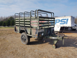 PINTLE HITCH 1.5-TON MILITARY TRAILER, BILL OF SALE ONLY