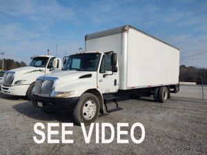 2007 International 4300 DT466 Box Truck With Lift (4000 Series); VIN# 1HTMMAAM07H362616; 434,385 Miles.  See video below.