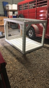 Wire Cage (great for hauling goats)