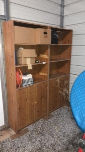 (2) Wooden Bookcases (contents not included)