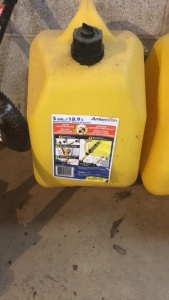 (2) 5-Gallon Diesel Fuel Cans (1 is full)