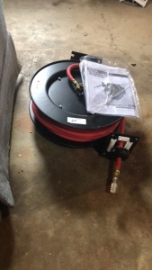 Central Pneumatic Retractable Hose Reel & Hose
