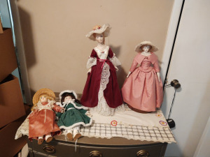 (4) Porcelain Dolls