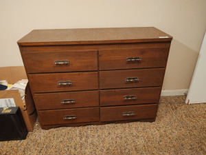 Wooden 8-Drawer Chest Of Drawers