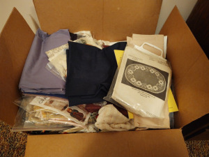 Box Of Patterns, Material & Craft Items