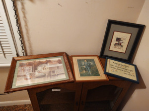 Assortment Of Framed Prints & Needlepoint/Cross Stitch Art