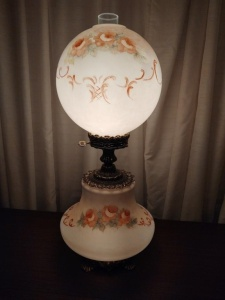 Vintage Double Globe Hurricane Lamp