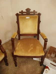 Vintage Cushioned Side Chair