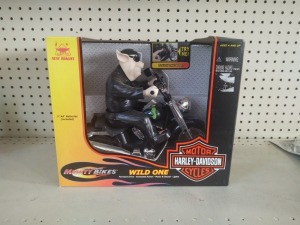 "Harley-Davidson ""Wild One"" Battery Operated Bike By New Bright, NIB"